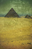 Old photo of pyramids Royalty Free Stock Photos