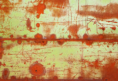 Grunge old rusty metal. Grunge texture of old rusty metal with scratches and seam Royalty Free Stock Images