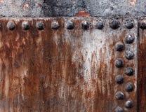 Grunge rusty metallic surface closeup stock photos