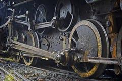 Grunge old steam locomotive Stock Photos