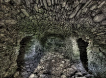 Grunge old tunnel of stone Stock Photography