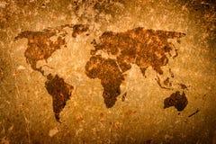 Grunge old world map Stock Image