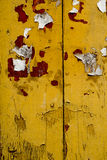 Grunge Old yellow wood wall texture background Stock Image