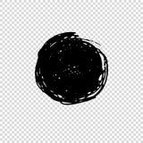 Grunge om Borstel Vuil artistiek ontwerpelement Vector illustratie stock illustratie