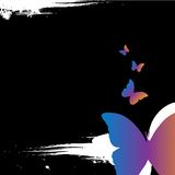 Grunge ontwerpt butterly Royalty-vrije Illustratie