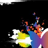 Grunge ontwerpt butterly Vector Illustratie
