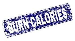 Grunge oparzenie prostokąta kaloria Obramiający Zaokrąglający znaczek ilustracja wektor