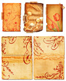Grunge open book pages with swirls Stock Image