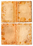 Grunge open swirl book pages Royalty Free Stock Images