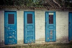 Grunge openbaar toilet Royalty-vrije Stock Foto's