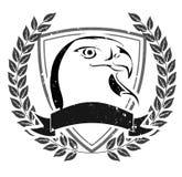 Grunge orła głowy emblemat Zdjęcia Royalty Free