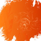 Grunge orange background Royalty Free Stock Images