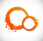 Grunge orange circles Royalty Free Stock Image