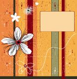 Grunge orange flower background. Abstract background - design elements, with space for your text Royalty Free Stock Images