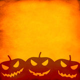 Grunge orange halloween background Stock Image