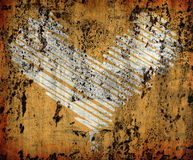 Grunge orange heart background Royalty Free Stock Image
