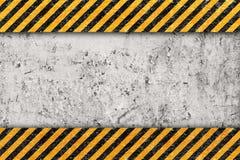 Grunge orange Muster mit warnendem Streifen Lizenzfreie Stockfotos
