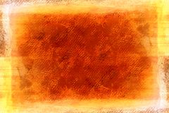 Grunge orange painted canvas Royalty Free Stock Image
