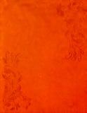 Grunge orange Papierhintergrund mit Weinleseart Stockfotos