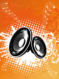 Grunge Orange Party Speaker. Vector Illustration Royalty Free Stock Photography