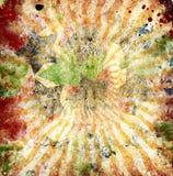 Grunge orange sun rays Stock Images