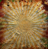 Grunge orange sun rays Royalty Free Stock Photos