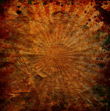 Grunge orange sun rays background Royalty Free Stock Photos