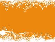 Grunge orange vector background Royalty Free Stock Photos