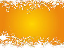 Grunge orange vector illustration background Royalty Free Stock Photos