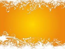 Grunge orange vector illustration background Royalty Free Stock Photos