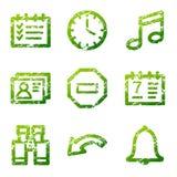 Grunge organizer contour icons Stock Photography