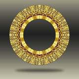 Grunge oriental gold ornament. Royalty Free Stock Image