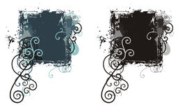 Grunge ornamental frame Stock Images