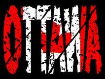 Grunge Ottawa with Canadian flag Stock Images