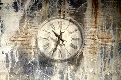 Grunge oude klok Stock Foto's