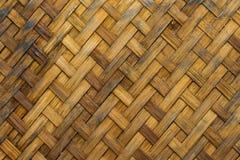 Grunge oude textuur van bamboeweefsel Stock Foto