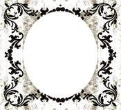 Grunge ovale décorative de cru illustration de vecteur