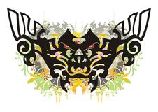 Grunge overladen vlinder Stock Foto
