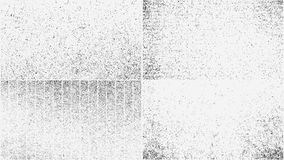 Grunge overlay textures set Royalty Free Stock Photography