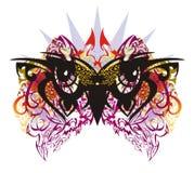 Grunge owl eyes with colorful splashes Royalty Free Stock Photos
