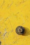 Grunge oxidado amarelo do metal Imagens de Stock