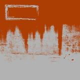 Grunge oxidado Bkgrnd y marco ilustración del vector