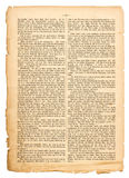 Grunge page of undefined antique book with german text Stock Image