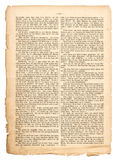 Grunge page of undefined antique book with german text Royalty Free Stock Photography