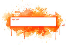 Grunge paint banner Stock Image