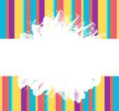 Grunge paint splash and strokes rainbow color banner Stock Photos