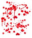 Grunge Paint Splashes Blots Stock Photo