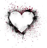 Grunge Paint Splatter Heart Stock Photography