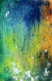 Grunge Paint Texture. Colorful hand-painted texture on cardboard with a variety of colors and textures.  Distressed and weathered for a grungy look Stock Image
