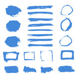 Grunge Paint Watercolor Ink Texture Elements Set. Banners, Frame Stock Photography